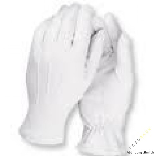 Baumwoll Handschuh weiß 1 Paar Gr. M/L ( 8-9)